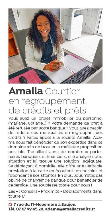 Amalla courtier en regroupement de credits et prets